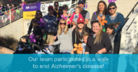 participating in the alzheimer's walk